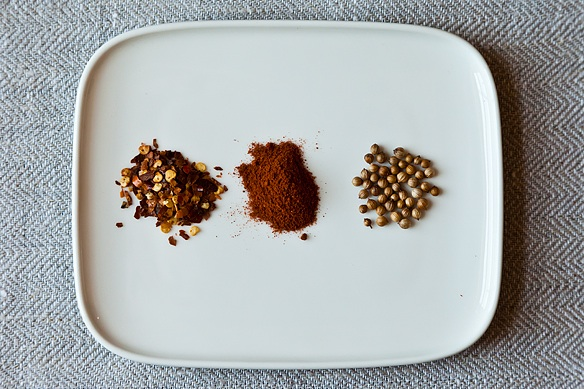 Coriander + Cayenne + Red Pepper Flakes