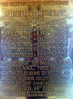 Titanic Band plaque, Liverpool