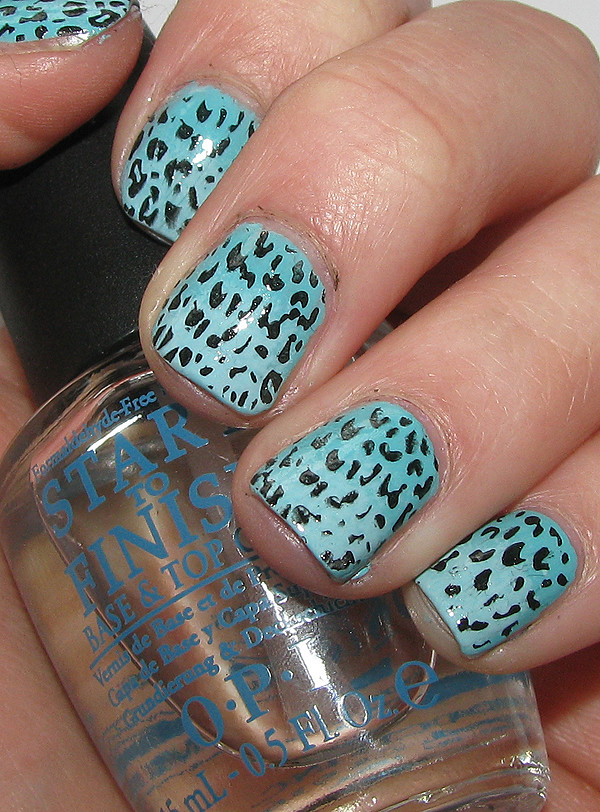 The Charming Blue cheetah print nail designs Pics