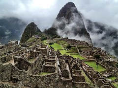 [Free Images] Architecture, Archaeological Sites, Fog / Mist, Machu Picchu, World Heritage, Landscape - Peru ID:201204130800