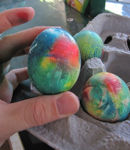 Tie Dyed Easter Eggs 2012