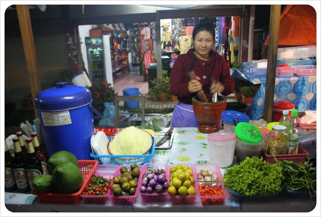 papaya salad lady luang nam tha