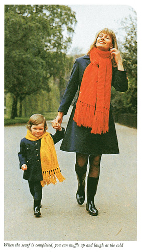 mum and kid in scarves