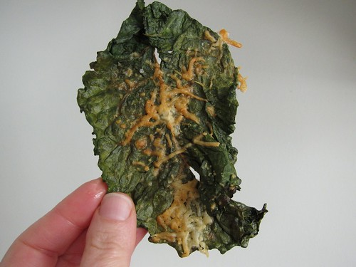I made kale chips with asiago cheese - so yummy