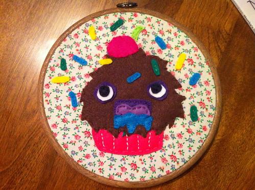 Salivating Cupcake