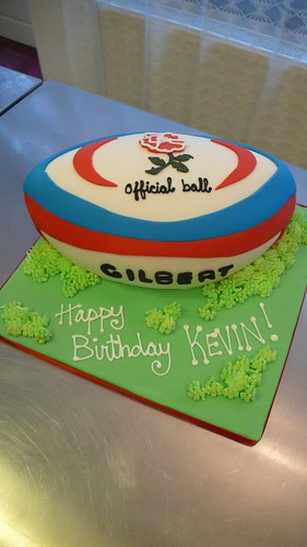 England Rugby Ball Cake by CAKE Amsterdam - Cakes by ZOBOT