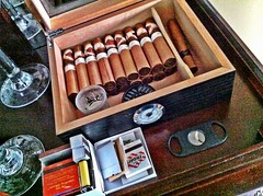 My humidor and cigar setup is almost complete - just waiting for the crystal gel humidifier and it's done