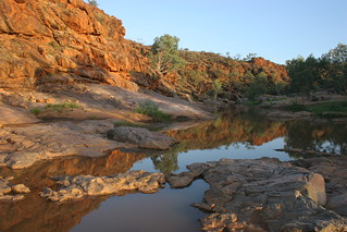 Wigley rockhole reflection