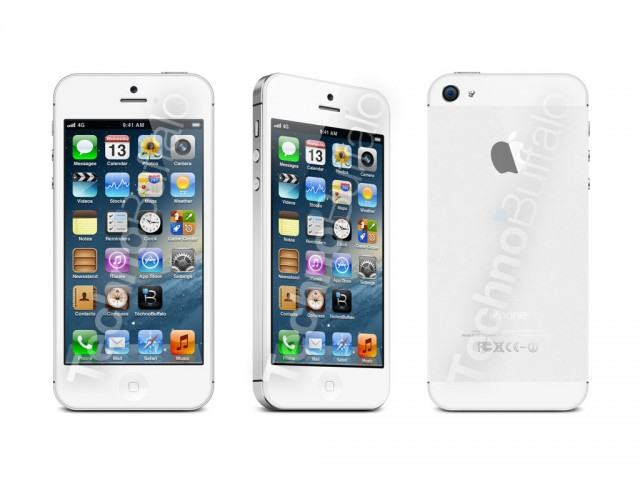 White iphone front