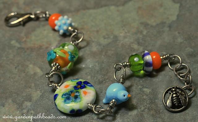 Garden-Lampwork Bracelet