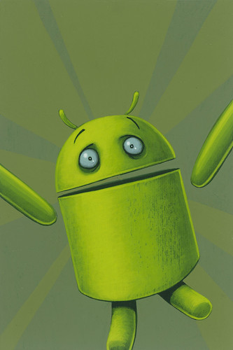 Frightened Android