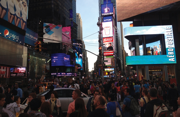 time square craziness