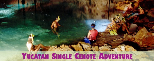 Hidden Worlds Yucatan Single (1) Cenote Adventure Package