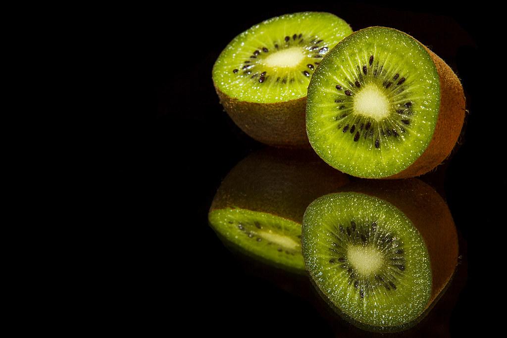 Kiwi Fruit with a reflection