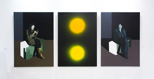 """Paintings (Triptych) by WANG Jianwei 汪建伟 (汪建偉): Surface II, 2013"" / Long March Space 长征空间 (長征空間) / Art Basel Hong Kong 2013 / SML.20130523.6D.13934"