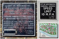 Churchill Gardens / signs