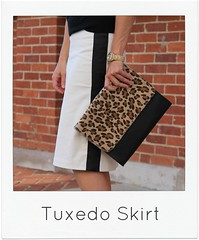 how to make a tuxedo skirt