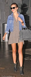 Miranda Kerr Studded Biker Boots Celebrity Style Women's Fashion