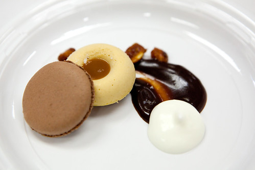 Peanut butter semifreddo, salted caramel, fudge by Pastry Chef Nancy Olson of Gramercy Tavern, NYC