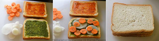 Veg Bread Sandwich Recipe - Step1