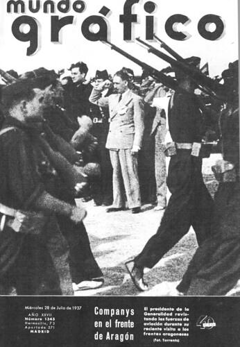 Companys en el frente de Aragón, «Mundo Gráfico, 28 de julio de 1937» by Octavi Centelles