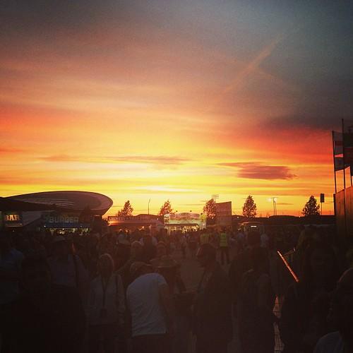 Amazing sunset tonight over Olympic Park. #brucelondon