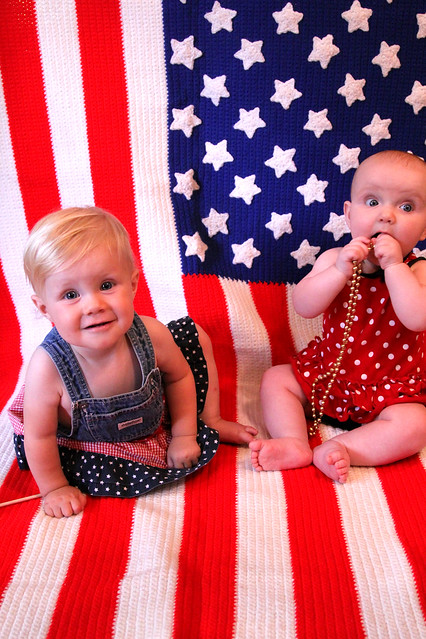 Two Patriotic Girls