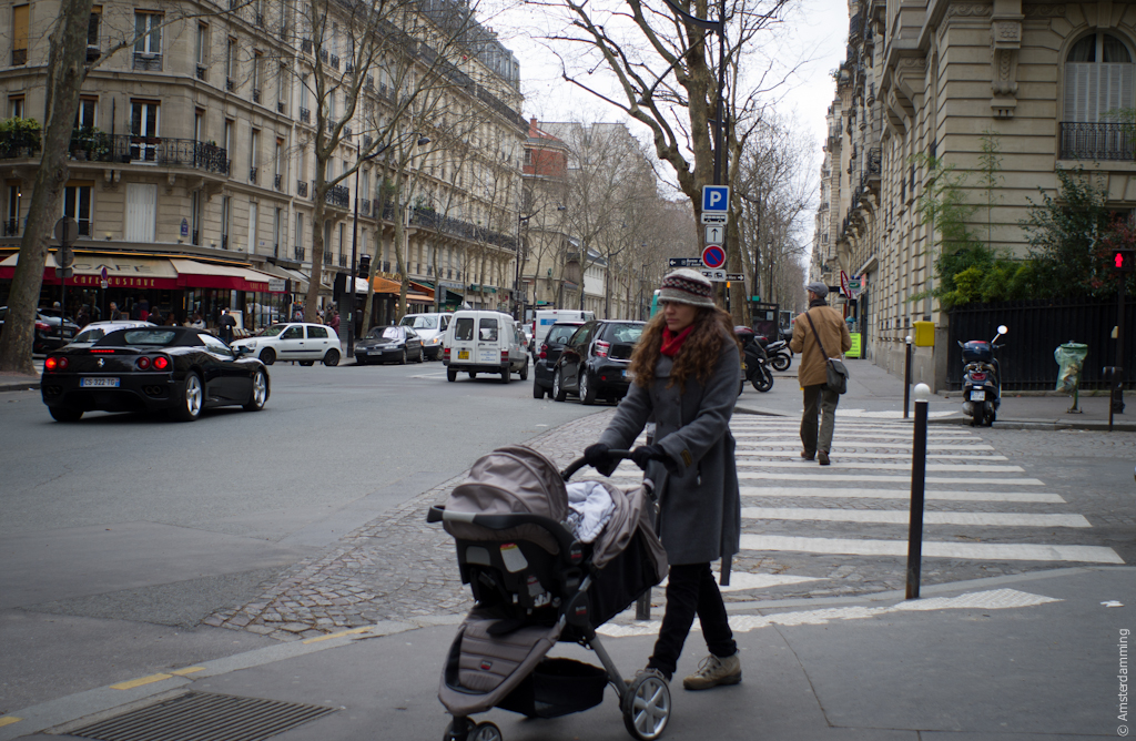 Paris, Woman with Stroller
