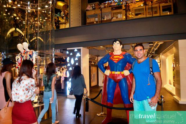 Superman statues.