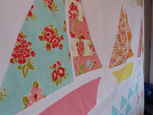 Summer beach quilt sailboats