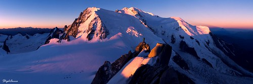 panorama snow france alps sunrise glacier chamonix montblanc leverdesoleil aiguilledumidi stephanna mostsuccessfulphoto