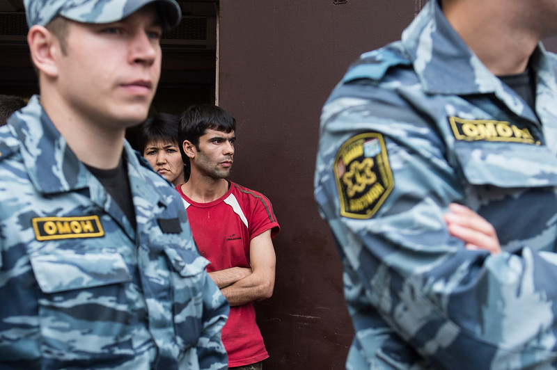 Nationalists held an action against illegal trading in St. Petersburg