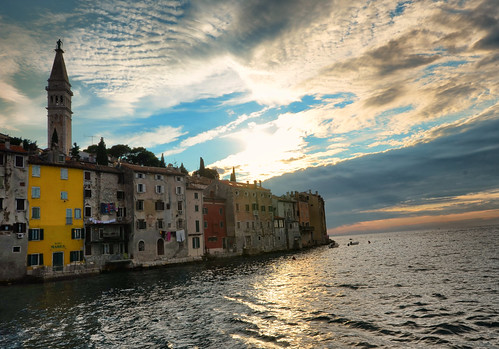 street old city travel sunset sea vacation house reflection building tower history tourism church window water architecture night facade landscape town europe mediterranean day view image outdoor vivid croatia nobody belfry coastal maritime mass setting picturesque rovigno rovinj impression adriatic adria porec istria istra affected equanimity littoral seaboard quietude sedateness vividly istriacroatia bunchofhouses