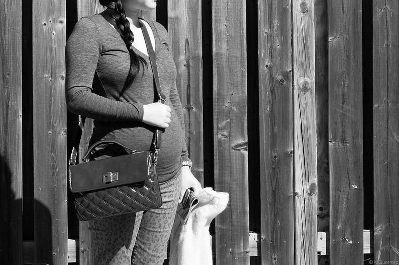 animal print maternity pants