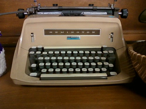 Faux Woodgrain, a la Remington Typewriter