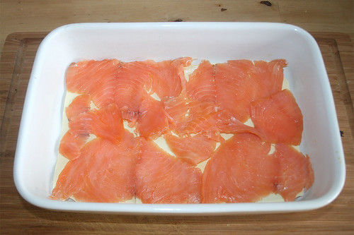 33 - Räucherlachs einlegen / Add smoked salmon