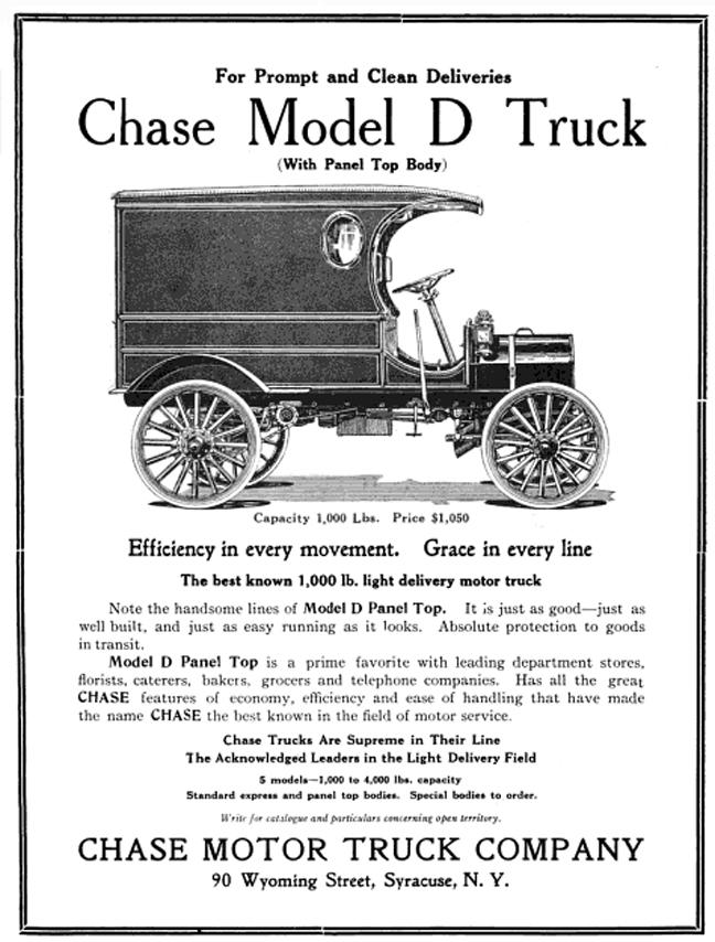 Chase Motor Truck Co 1912 Model D