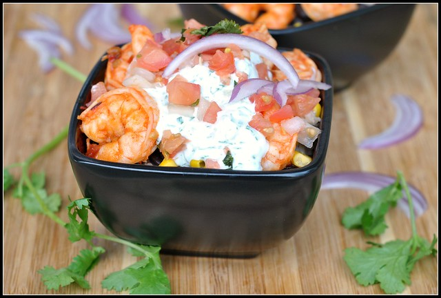 Chipotle Shrimp Bowls with Cilantro-Lime Cream Sauce 4
