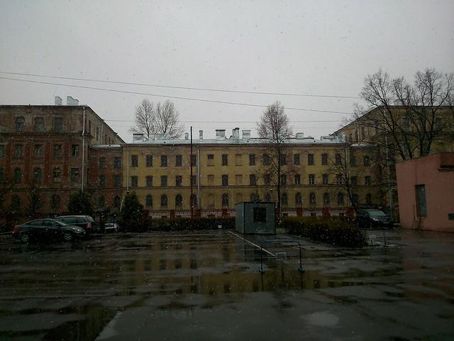 Снег 23 апреля // Snow on April 23