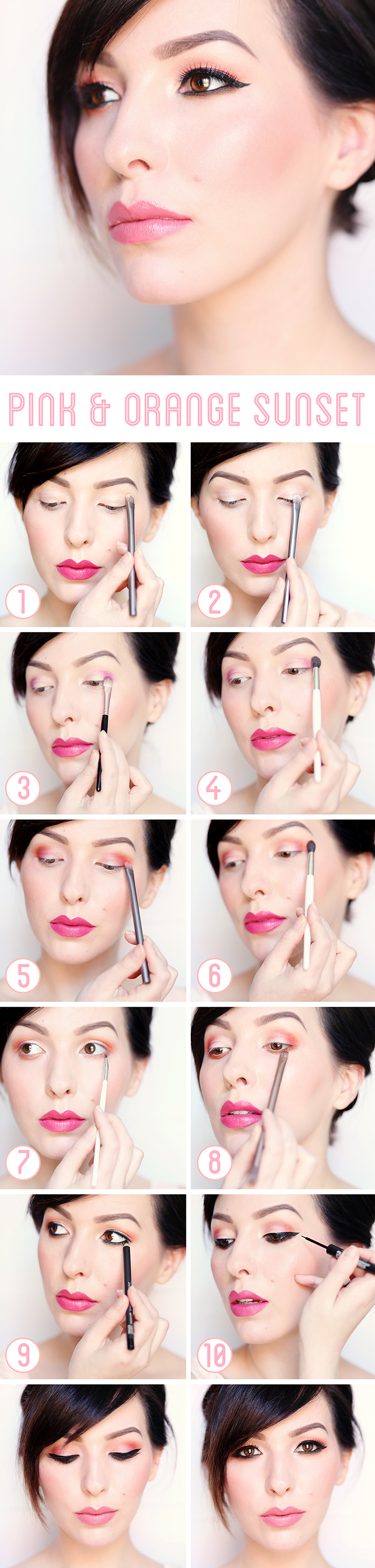 Pink and Orange Sunset Tutorial