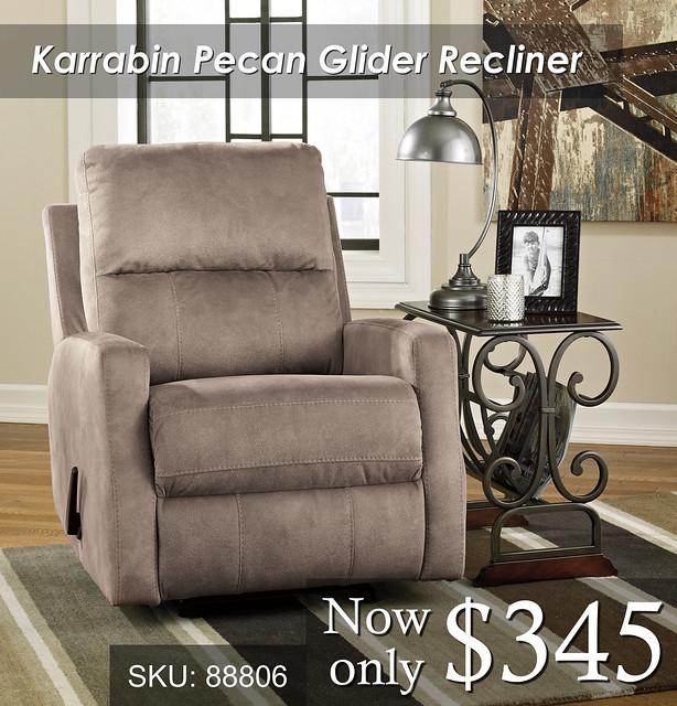 Karrabin Glider Pecan Recliner