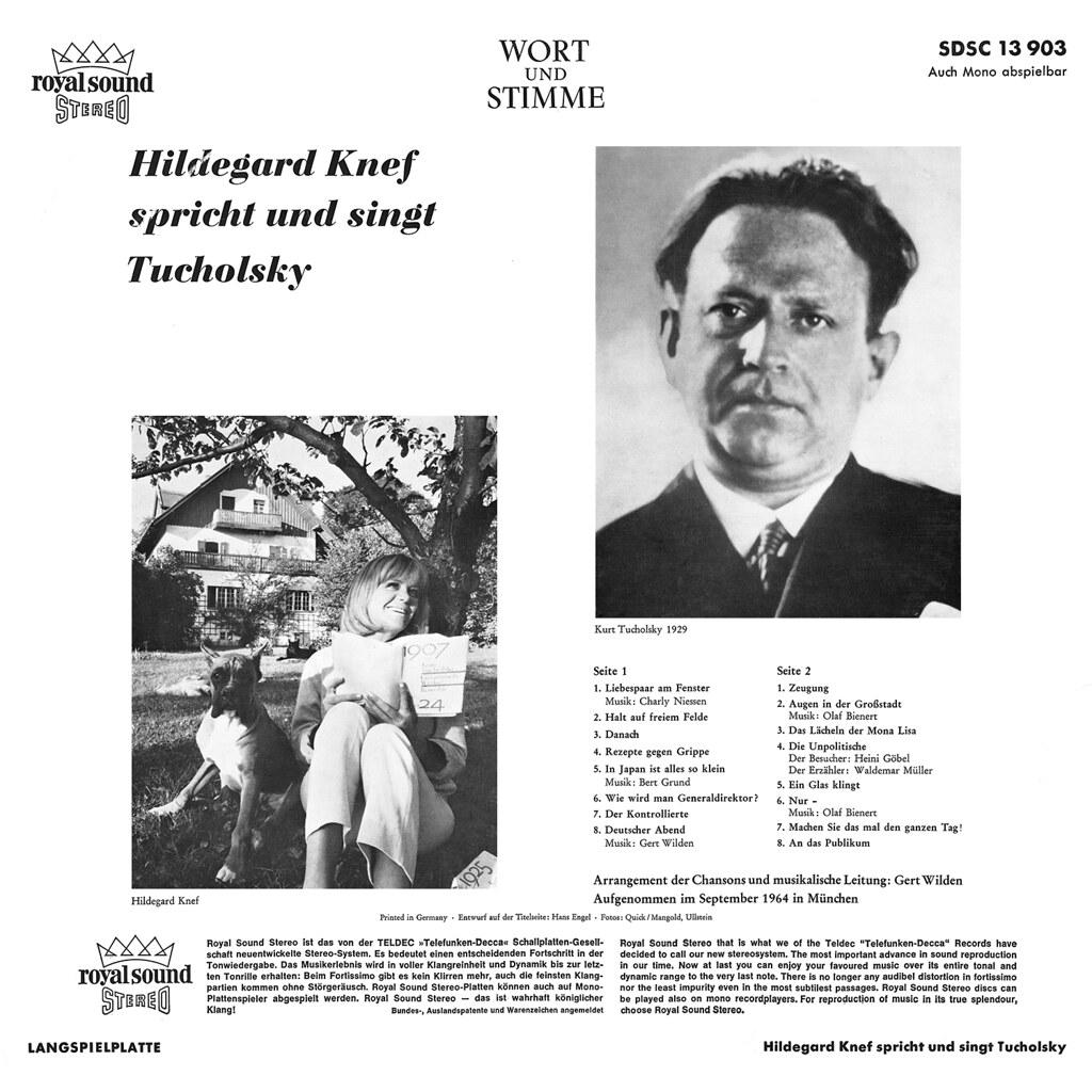 Hildegard Knef singt und spricht Kurt Tucholsky