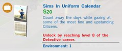 Sims in Uniform Calendar
