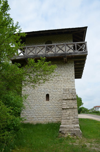 Reconstructed watchtower WP 14/63 in Erkertshofen, Raetian Limes, Germany