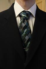 hand(0.0), arm(0.0), design(0.0), brand(0.0), necktie(1.0), blue(1.0), black(1.0),