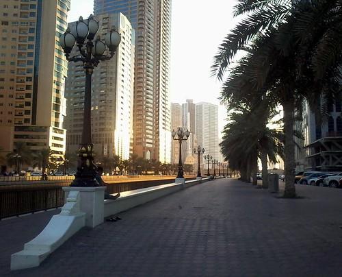 sharjah uae шарджа оаэ المجاز الشارقة almajaz альмаджаз buhairacorniche corniche набережная streetview cornisa calle