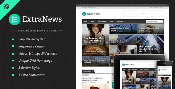 ExtraNews v1.5.9 - Responsive News and Magazine Theme