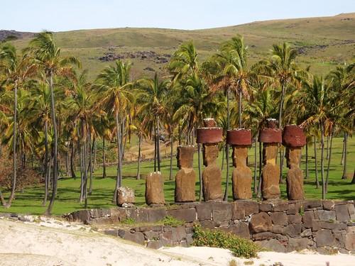 Ahu Anakena - Rapa Nui - Eastern island - Chile