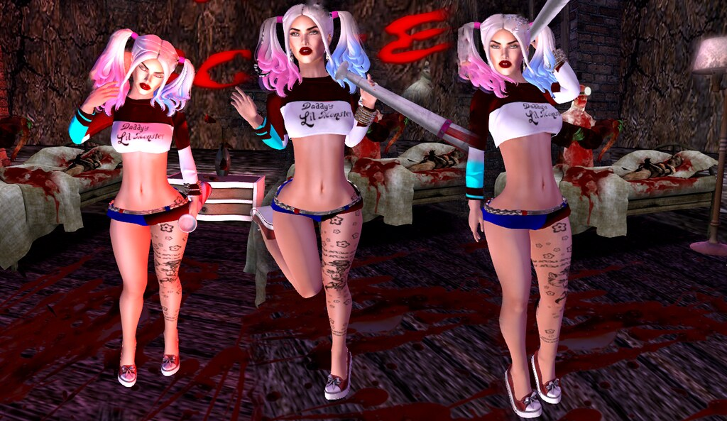 .:Lekilicious Store:. Set Harley Quinn                                                                         marktplace : https://marketplace.secondlife.com/p/Lekilicious-Store-Set-Harley-Quinn-mesh-BOXED/9741828 - SecondLifeHub.com