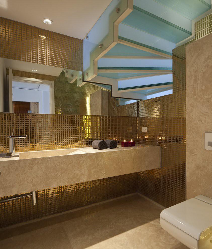 Blue Sky Bathroom Tile Floor Decoration